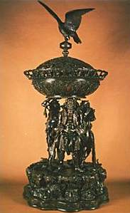 Japan Bronze Bowl : Eagle Incense burner