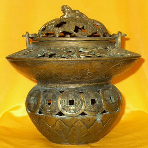 China Bronze 2 tiers Incense burner