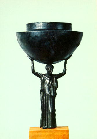 Greece Bronze Thymiaterion : Human Incense burner