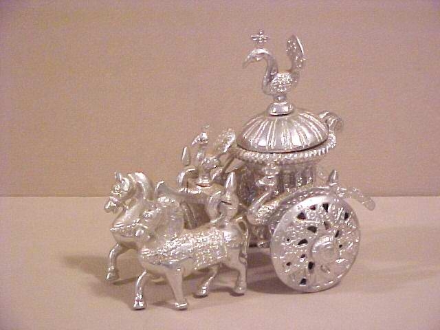 Oriental Metal Cart : Horse Incense burner