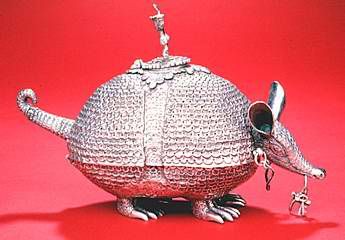 Peru Silver Animal : Armadillo Incense burner