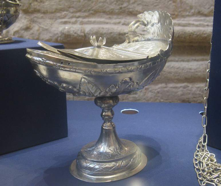 Italy Silver Boat Incense burner
