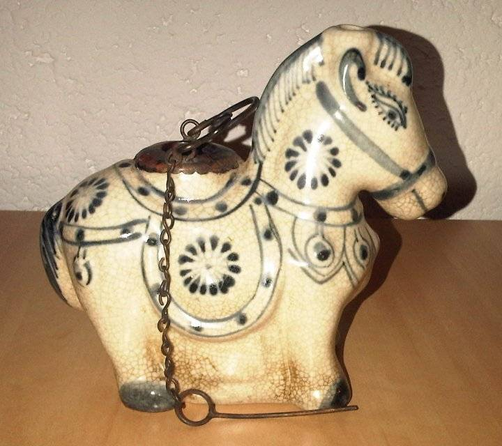 Ceramic Animal : Horse Incense burner